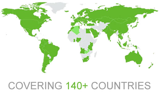 4G International Data Roaming covering 140 countries